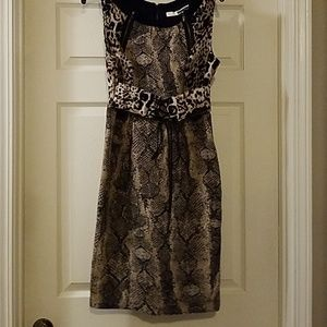Tracy Reece Leopard/Snake Print Dress